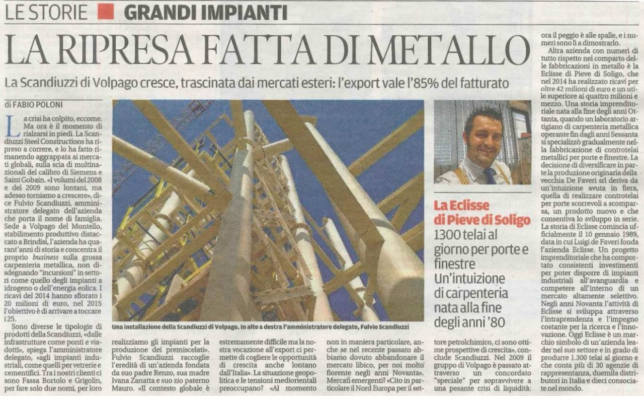 La Tribuna - The economic upturn made of metal