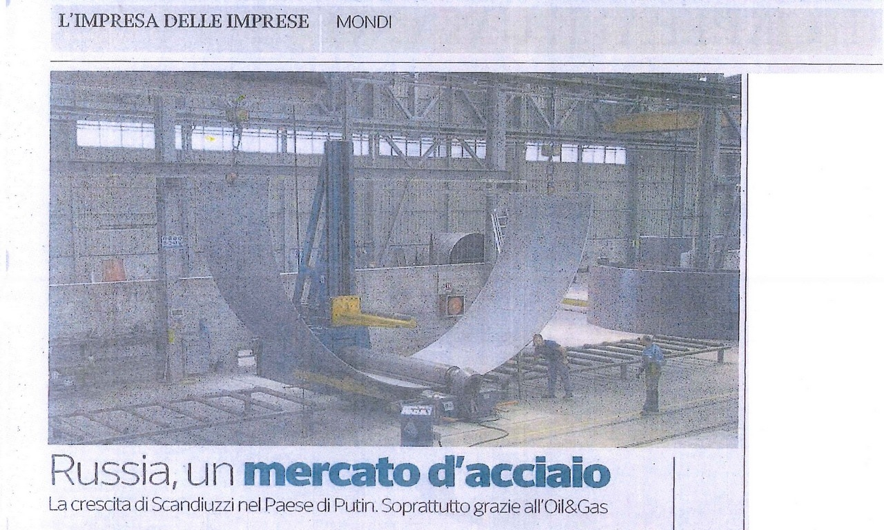 CORRIERE IMPRESE - RUSSIA, THE STEEL MARKET