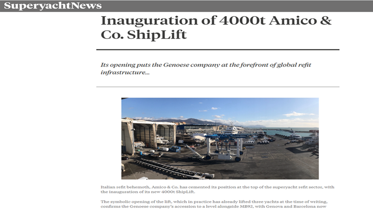 SuperyachtNews - Inauguration of 4000t Amico & Co. ShipLift