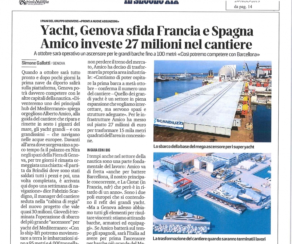 Yacht, Genova challenge France and Spain